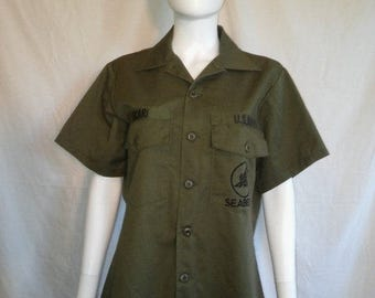 Closing Shop Sale 40% Off US United States Navy SEABEES Shirt