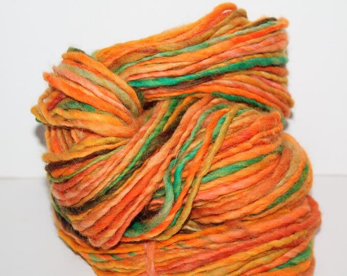 Hand spun Cheviot Wool. Single ply. Aran weight 4oz/120 yards. Knit.  C168