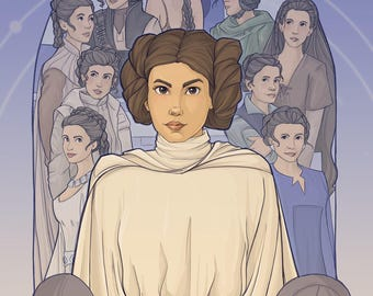 Patreon subscribers only: Leia Postcard