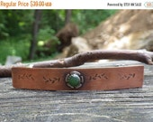 20% OFF Today Sterling Jade flower Copper French Barrette MEDIUM