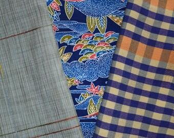 Vintage Japanese Kimono Fabric Bundle 3 Sleeve Mix Crafting - Mix It Up