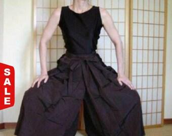 Sale -  Hakama - Pants Style - Vintage Japanese Hakama - Brown