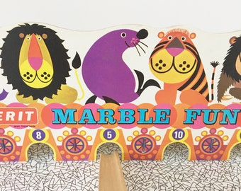 Rare 60s 70s Kenneth Townsend Marble Fun Game by Merit 60s 70s