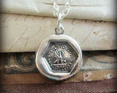 A Mother's Love Wax Seal Necklace - Live and Die for Those We Love  - Mother's Necklace - New Mommy Necklace - V1280