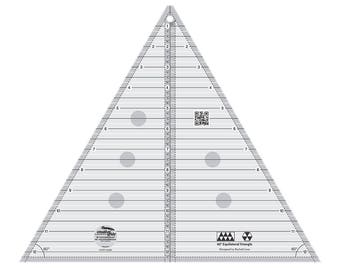 Creative Grids 60 Degree 12-Inch Triangle Quilt Ruler (CGRT12560)