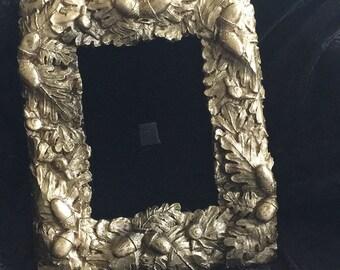 Ornate Gold Acorn  5 x 7 Frame