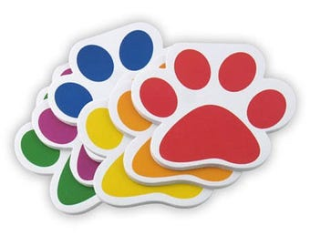 Paw print notepads, colorful dog notebooks, dog paw print paper, dog notepad, animal notepad, dog lover gift, i love dogs