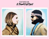 Margot and Richie Tenenbaum (The Royal Couple) Royal Tenenbaums prints