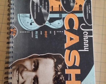 Johnny Cash Recycled Record Album Journal Notebook