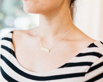 Mixed Metal Name/Word Necklace / Gold and Silver Layering