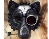 READY TO SHIP Steampunk Wolf Leather Mask...  handmade mask masquerade mardi gras steampunk goggles halloween burning man costume