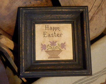 PriMiTiVe - - Happy Easter - - AweSoME EaRLy LoOk CrOSs STiTcH  SamPLeR - - LOVe !!!