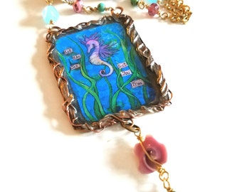 Seahorse~Whimsical Moments Necklace