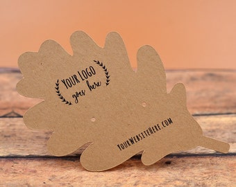 "Leaf Shape Cards | | 48 CARDS | 4""x2.46"" 
