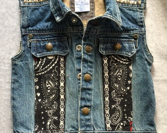 Punk Rock Misfits Denim Vest Made to Order