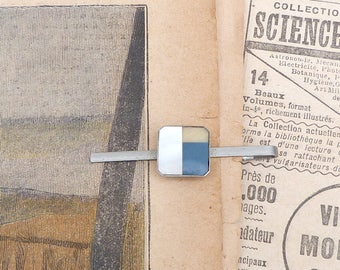 Vintage Antique 1930s French  3 colors tie clip