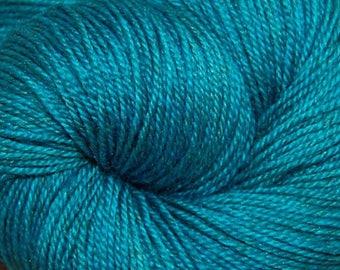"MYS 622 Yarn ""SEA"" -superwash merino,yak, silk yarn - 100 grams 400 yards"