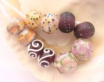 5 Handmade Lampwork Beads Pairs