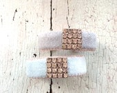 Pale Blue Adjustable Cuff with Rhinestones