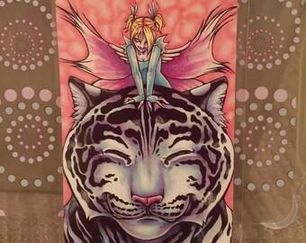 "White Tiger Fairy - 6x4"" Matte Art Print"