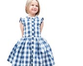 Child Dress PDF Sewing Pattern, The Picknick Dress Sized 12mo to 12y