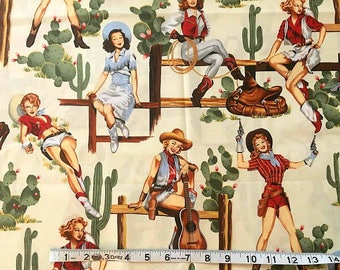 Alexander Henry From The Hip Fabric Rare one yard last yard
