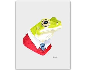 Frog print 8x10