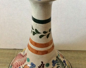 Vintage earthenware Mexican candleholder