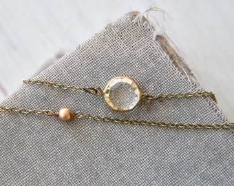 Modern bohemian layering necklace,short necklace,choker necklace,double strand necklace,orb jewelryTiedupmemories
