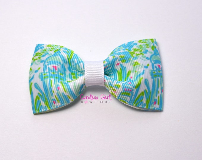 "High Beams ~ 3"" Hair Bow Tuxedo Bow ~ Lilly Inspired ~ Simple Bow ~ Boutique Bow for Babies Toddlers ~ Girls Hair Bows"