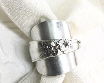 Iris Demitasse Spoon Wrap Ring