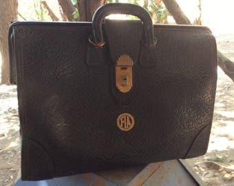 Walrus Leather Plague Doctors Bag, vintage leather steampunk bag