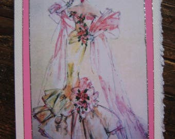 "Vintage Barbie note card ""Parisienne Barbie"""