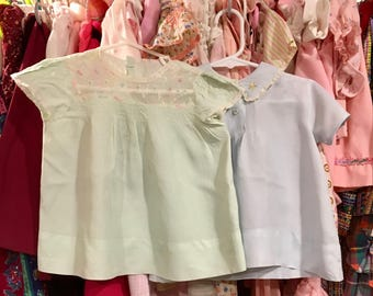 Pair of 1940s Baby Dresses 9/12 Months