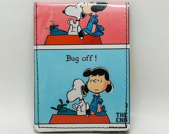 Sewn Comic Book Wallet -  Peanuts - Snoopy and Lucy