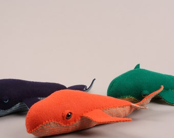 Felt Whale Plush - made to order