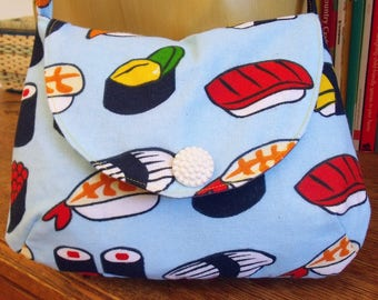 Crossbody bag in sushi print