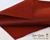 Rustic Crimson Wool Felt, Merino Wool Blend Felt, Wool Blend Felt, Wool Felt Yardage, Wool Felt Fabric, Deep Red Felt Fabric Yardage