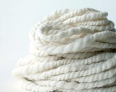 2ply white merino #1 .. yarn, wool yarn, handspun yarn, hand spun yarn, rainbow yarn, 2ply candy cane yarn, bulky wool yarn,