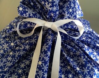 Extra Large Christmas Gift Bag 39 inches wide x 50 inches tall - Reusable Eco-Friendly Cotton Fabric