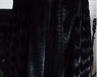 Black Faux Fur Cape,Hooded Chinchilla Capes,Plus size fur ponchos,fur wraps
