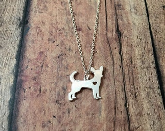 Chihuahua necklace - chihuahua jewelry, dog breed necklace, silver chihuahua necklace, dog necklace, gift for chihuahua owner