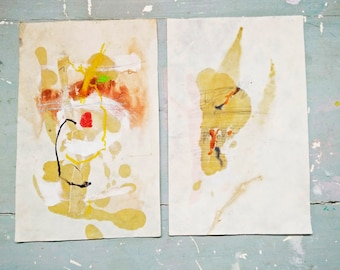 Mixed Media Collage. Original Collage.  Original Art.  Original Drawing.Abstract Drawing. Mixed Media Drawing. Handmade French Paper.