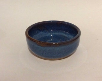 SMALL little blue bowl for prep work or trinkets or serving handmade B108