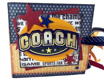 Coach Scrapbook - Mini Sports Scrapbook - Coaching Staff Sports Paper Bag Album
