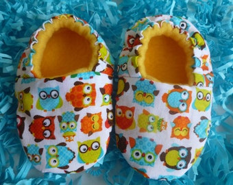 OWLS - Soft Shoes, Baby, Infant - MADE to ORDER!