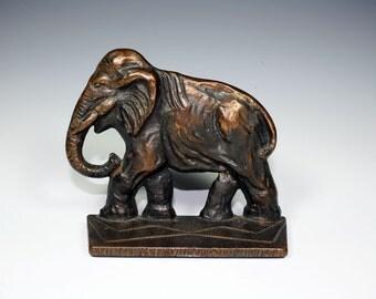 Verona Cast Iron Elephant Bookend or Door Stop