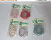 Spring Fling SALE Vintage 50s Stockings Garters Roll 1950s You Pick Color Pinup Rockabilly Flapper NOS Deadstock Blue Lavender Red Pink