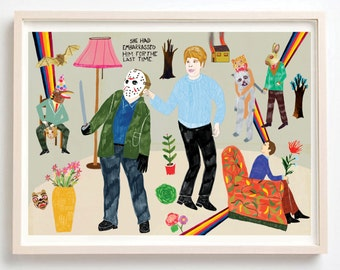 Fine Art, Print, jason voorhees, Friday the 13th, Horror Movies, Quirky, Humor, She Had Embarrassed Him for the Last Time- on fine art paper