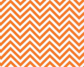 Chevron Fabric, Orange and White Fabric, Fabric by the Yard, Quilting fabric, Ann Kelle, Fabric Shoppe, Free Shipping Available